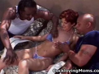 Wicked milf gets a nasty gang...