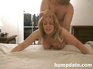 Hot MILF gets doggystyled and facialized